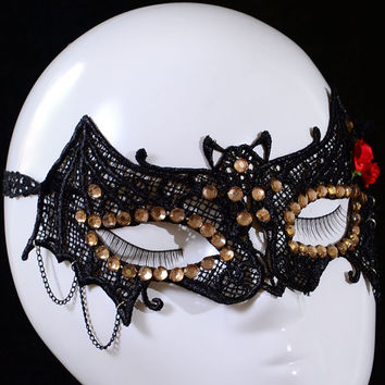 Gothic Masquerade Halloween Party Bat Shape Mask