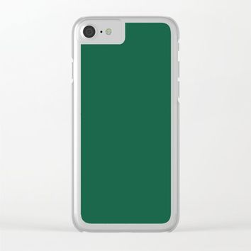 Teal The World (Green) Clear iPhone Case by Moonshine Paradise