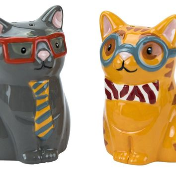 Smarty Cat Salt and Pepper Shaker Set