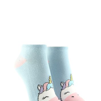 Unicorn Graphic Ankle Socks
