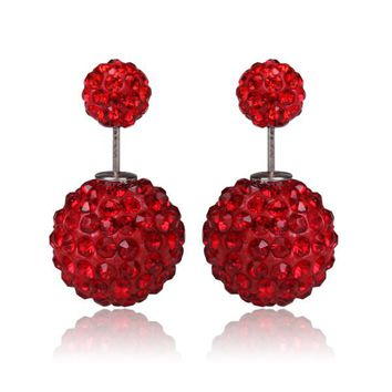 Limited Edition Tribal Earrings - Swarovski Crystal Red