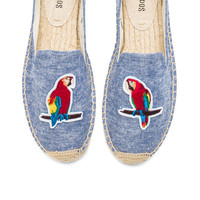 Soludos Parrots Smoking Slipper in Ocean Blue