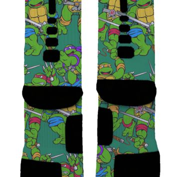 Teenage Mutant Ninja Turtles Custom Nike Elite Socks