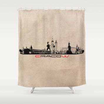 Cracow city skyline  Shower Curtain by Jbjart