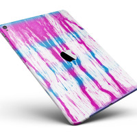 """Running Blue and Pink WaterColor Paint Full Body Skin for the iPad Pro (12.9"""" or 9.7"""" available)"""