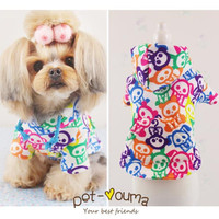 new fashion spring Rainbow pet cat dog clothes Spring and Autumn hoodies Specials teacup clothes for dogs