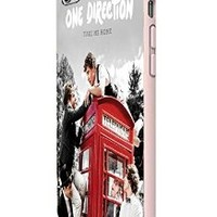 One Direction Red Phone Booth Custom Case for Iphone 5/5s Iphone 6/6 Plus Black and White (iPhone 6 Plus White Plastic)