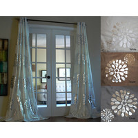 Sophie Modern Bold Metallic Flower Pattern 96-inch Grommet Panel Curtain | Overstock.com Shopping - The Best Deals on Curtains