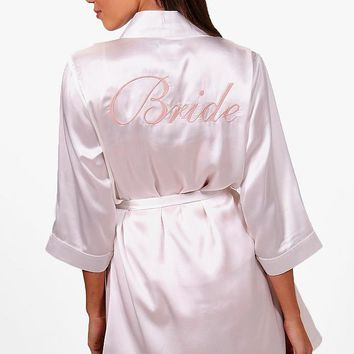 Bride Satin Robe | Boohoo