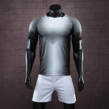Team customized men football jerseys suits adult sports kit shirts shorts tracksuit volleyball soccer sets uniforms breathable