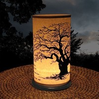Large Shoji Candle Lantern (Large Tree)
