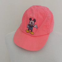 Vintage Adult Disney Mickey Neon Hat