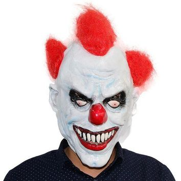 LMFONIS X MERRY TOY Killer Clown Mask Adult Mens Latex   R