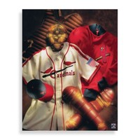 MLB St. Louis Cardinals Vintage Collage Canvas Wall Art