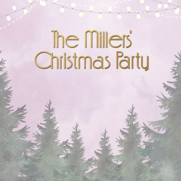 Custom Forest Christmas Family Party Backdrop (ANY TEXT) Engagement, Birthday, Baby Shower - C0204