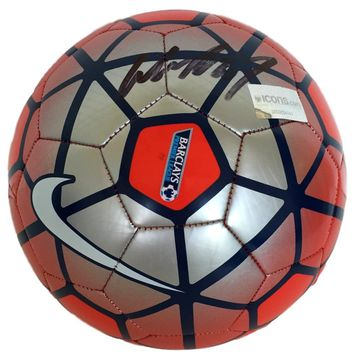 Wayne Rooney Signed Nike Barclays Premier League Soccer Ball Icons 0000034141