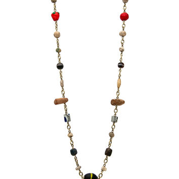 Ancient Stone and Glass Bead Necklace