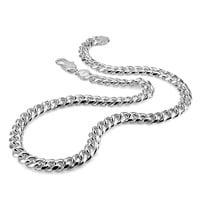 Real 100% Sterling Silver Men's Necklace Hip-Hop Punk Style 10mm 26in Chain Necklace Fashion Men/ boy 925 Silver Jewelry Pendan