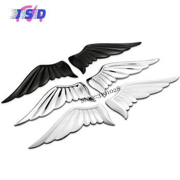 Car Body Stickers For Angel Wings Logo Auto Metal Decorative Decals Emblem Modification For Alfa Romeo Hyundai Opel MG BMW Dodge