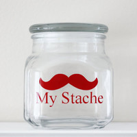 My Stache - Mustache Money Jar - RED