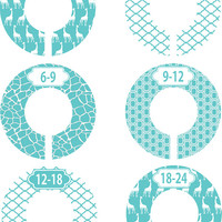 Custom Baby Closet Dividers Turquoise Giraffe Gender Neutral Boy Girl Closet Dividers Baby Shower Gift Baby Clothes Organizers Baby