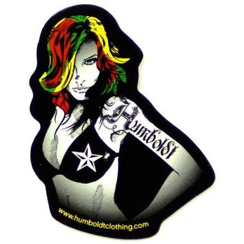 Rasta Girl Sticker