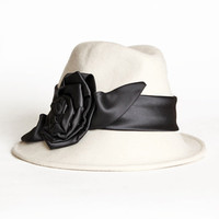 domino flower applique cloche hat - $66.99 : ShopRuche.com, Vintage Inspired Clothing, Affordable Clothes, Eco friendly Fashion