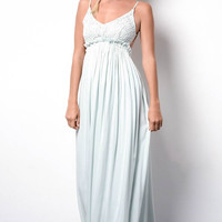 Something Special Crochet Maxi Dress - Mint