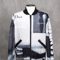 Expensive Collab Viscose Bomber Jacket