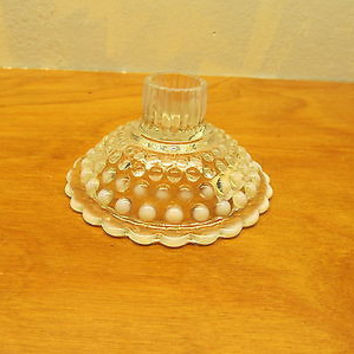 VINTAGE HOBNAIL OPALESCENT CANDLE HOLDER
