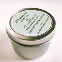 Japanese Pear & Ginseng Soy wax Candle,Soy Candle Tin, Scented Soy Candles, Hand Poured Soy Candles, Soy Candles Handmade