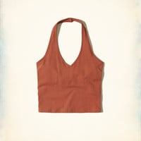 Girls Must-Have Jersey Halter Top | Girls Tops | HollisterCo.com