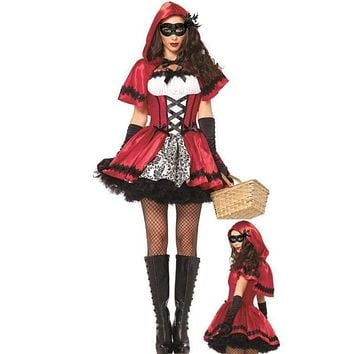 Halloween Costumes for Women Sexy Cosplay little red riding hood fantasy game uniforms fancy dress outfit Macchar Cosplay Catalogue