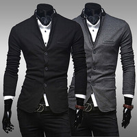 Straight Collar Design Modern Look Mens Blazer