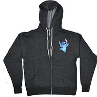 Disney Lilo and Stitch Peekaboo Front Zip Hoodie Sweatshirt