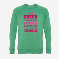 If Cheerleading Was Easy fleece crewneck sweatshirt