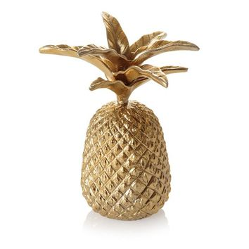 Gold Pineapple Jewellery Stand | Oliver Bonas