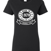 Made In 1978 With All Original Parts Great 36Th Birthday Celebration T Shirt Great Gift For 36TH Birthday Made In 1978