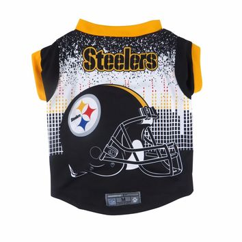 Pittsburgh Steelers Helmet Dog Shirt NFL Football Official Licensed Pet Product