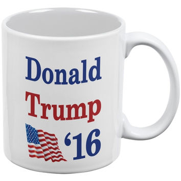 Election 2016 16 Flag Donald Trump White All Over Coffee Mugs printing printed travel novelty birthday gift  design personalized