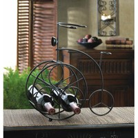 Charming Iron Tricycle Wine Rack