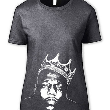 Women's Notorious BIG T Shirt - Biggie Smalls Hip Hop Tshirt Tupac Shakur Big Poppa New York