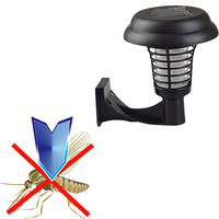 UV LED Solar Powered Outdoor  Anti Mosquito Insect Pest Bug Zapper