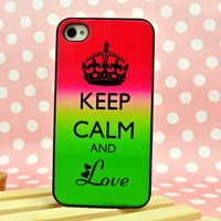 Keep Calm and Love Case for iPhone 4/ 4S