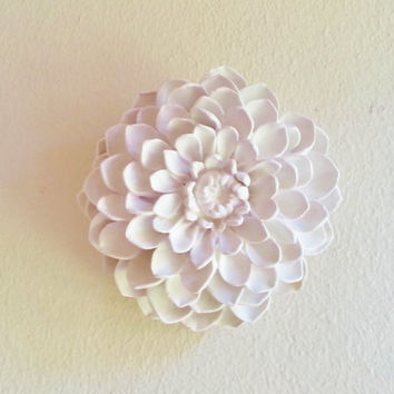 White Flower Sculpture, Gardenia Wall hanging sculpture, Wedding decor, favors