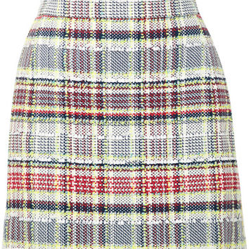 Thom Browne - Frayed cotton-blend tweed mini skirt