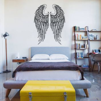 ik1177 Wall Decal Sticker angel wings bedroom children