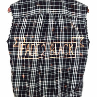 "Metallica Plaid Shirt - ""Fade to Black"" in Sleeveless Black Flannel"