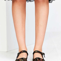 Satin Jacquard Mary Jane Flat - Urban Outfitters