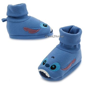 Licensed cool Lilo & Stitch Hawaii Alien BABY Costume Dress Up SHOES SLIPPERS Disney Store NEW